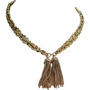 Vintage Etruscan style 22K Yellow Gold Tassels Necklace 57.7 grams 20 inches Long