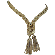 Vintage 14K Yellow Gold Tiffany & Co Tassel Mesh Chain Necklace Numbered