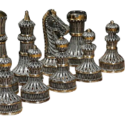 Brand New Limited Edition Sterling Silver Gold Guild Chess Set Filigree Amazing