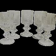 Vintage Russian USSR Soviet Union Crystal Shot Glasses Set of 5