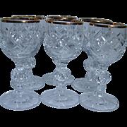 Vintage Russian USSR Crystal Glasses Shots for Vodka and more Set of 6