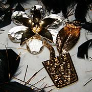"ST JOHN~Massive 4 1/2"" Huge Breathtaking Crystal Like Flower Pot Runway Statement Brooch/Pin"