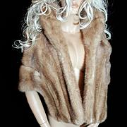 Sedran~Sz M/L~Stunning Vintage Blonde/Beige Mink Fur Stole/Shrug/Wrap/Shawl