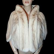 BULLOCKS~Amazing Vintage Blonde/Beige/Off White Mink Fur Stole/Wrap/Coat/Jacket/Shrug