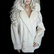 Christian Dior~Sz XL~Stunning Vintage Blonde/Beige/Off White Mink Fur Coat/Jacket