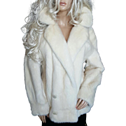 Christian Dior~Sz XL~Stunning Vintage Blonde/Beige/Off White Mink Fur Coat/Jacket