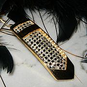 JUDITH LEIBER~Rare Signed Vintage Swarovski Crystal/Rhinestone Fur Clip