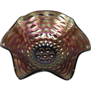 Westmoreland, Amethyst, Pearly Dots, Carnival Glass Bowl