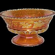 Northwood, Marigold, Grape & Cable W/Thumbprint, Carnival Glass Sherbert