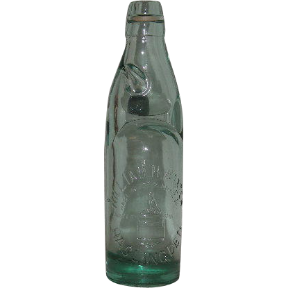 William H Baxter Aqua Mineral Water Codd Bottle From