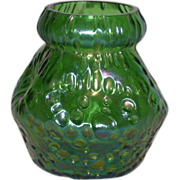 Green, Loetz, Diaspora, Pinched, Art Glass Vase