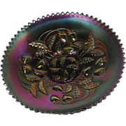 Northwood, Electric Amethyst, Strawberry, Carnival Glass Plate
