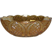 Rindskopf, Marigold, Diamond Ovals, Carnival Glass Bowl