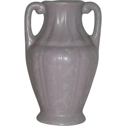 Purple, RumRill Pottery, Two Handled Vase