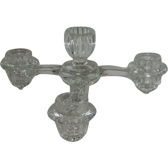 Cambridge Arms, Crystal, 4 Candle Holder