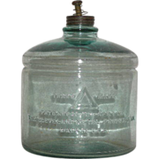 Early, Aqua, Kerosene Stove Fuel Jar