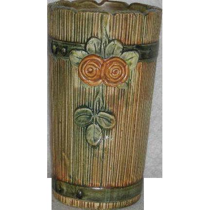 Weller, Woodrose, Cylinder Vase