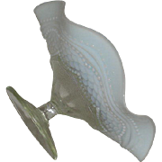 Jefferson Glass Co., White Opalescent, Pearls and Scales, Compote