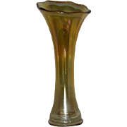 Imperial, Marigold Carnival Glass, Std., Smooth Panels Vase