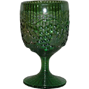 Green, Imperial Grape, Carnival Glass Goblet