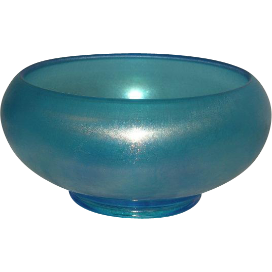 Dugan, Harding/Celeste Blue, Stretch/Carnival Glass Console Bowl