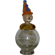 Hand Blown, Italian Art Glass Clown Bottle