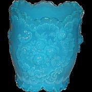Blue Opalescent, Northwood/Jefferson Glass, Rose Medallion Spooner