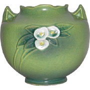 "Roseville Art Pottery, Green, 941-5"" Mock Orange Vase"