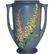 "Blue, Roseville Art Pottery, Foxglove, 45-7"" Vase"
