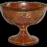 Marigold, Elektra, Carnival Glass Compote