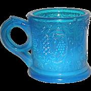Blue Opalescent, EAPG, Child's Mug