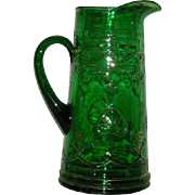 Dugan, Green, Diamonds and Clubs, Gold Trimmed Tankard Water Pitcher