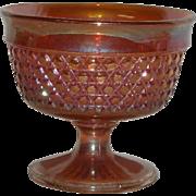 Sowerby, Marigold, Crosshatch Carnival Glass Open Sugar