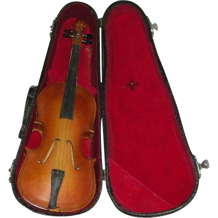 1950's, Salesman's Sample/Miniature Bass Fiddle W/Case