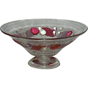 "Westmoreland, Della Robia, Large, 12"" Ruby Stained Fruit/Center Bowl"