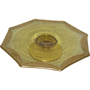 Imperial, Eight Sided, Yellow, Gold Trimmed Cake Stand
