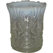 Jeffeson Glass Co., White Opalescent, Idyll Spooner