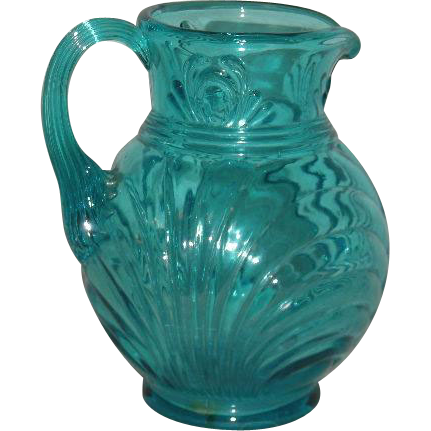 Fenton, Blue, Small Cream Pitcher