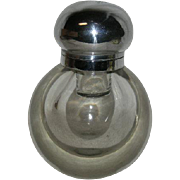 Large, Ball Shaped, Glass Ink Well