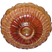 Fenton, Marigold, Stippled Rays, Carnival Glass Berry Bowl