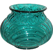 Blue, Fenton, Squat, Bulbous Vase