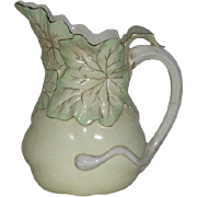 Hampshire Pottery, Squash Plant Pattern Pitcher