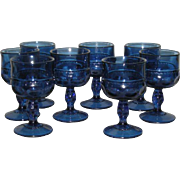 Eight, Cobalt Blue, Indiana/Tiara, Kings Crown Stemmed Wines