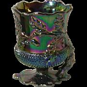 Mosser, Black Amethyst, Carnival Glass, Acorn Vase