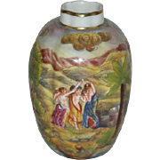 Hand Painted, Italian Art Pottery, Vase