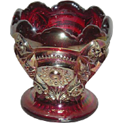 Imperial, Red, Fashion, Carnival Glass Toothpick Holder