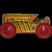 Marx, Tin Wind-Up Toy Tractor/Bulldozer