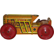 Marx, Tin Wind-Up Toy Tractor/Bulldozer