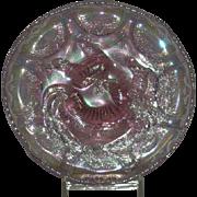 Fenton, Singleton Bailey, Iridescent Lavender Opalescent Farmyard Whimsy Bowl