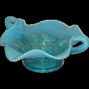 Diamond Maple Leaf, Blue Opalescent, Bon Bon